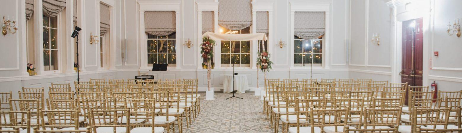 Hawthorne Hotel Wedding Ceremony Set Up
