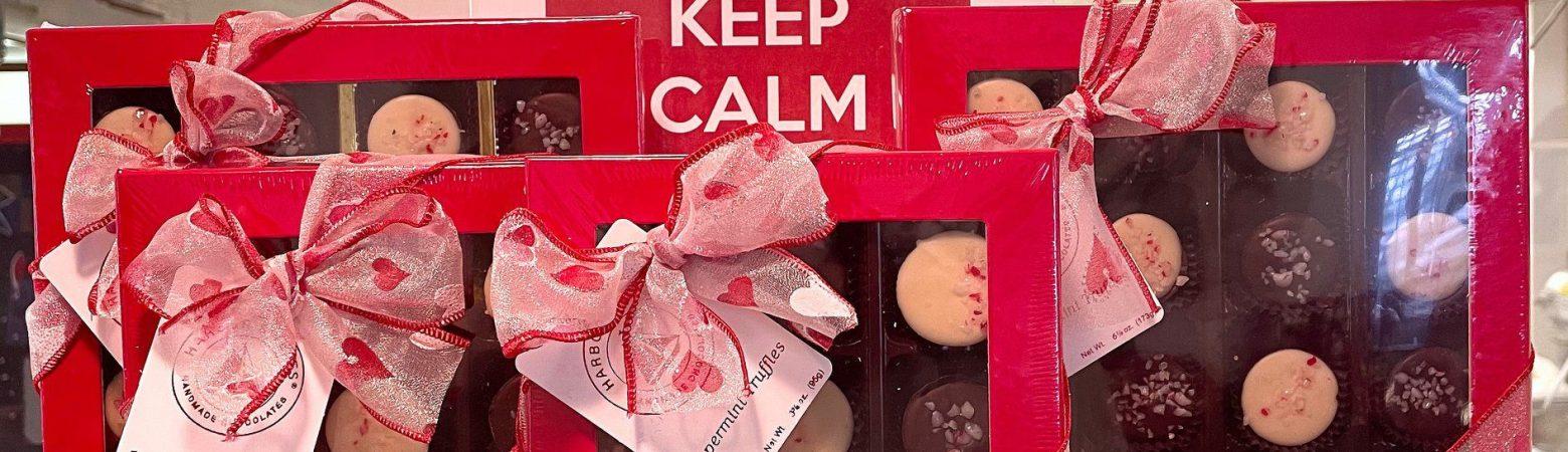 Valentine's Chocolate display