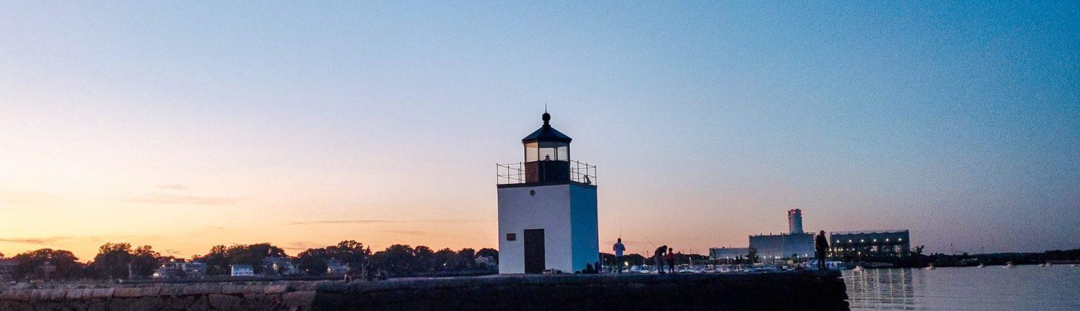 Derby Wharf Lighthouse at sunrise