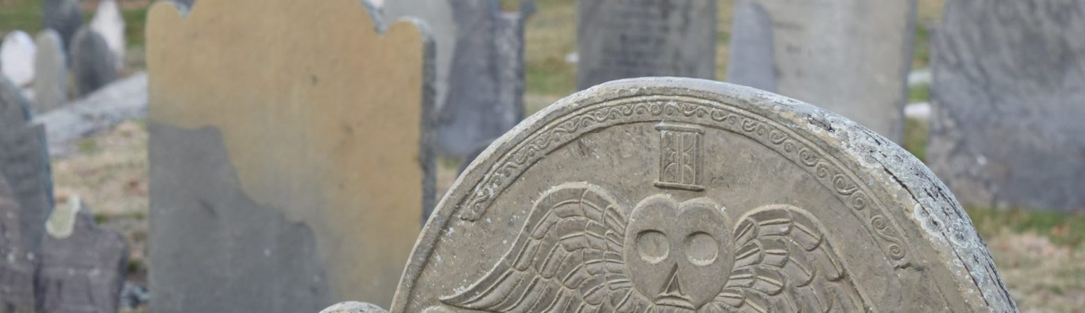 close up of a headstone in a cemetery