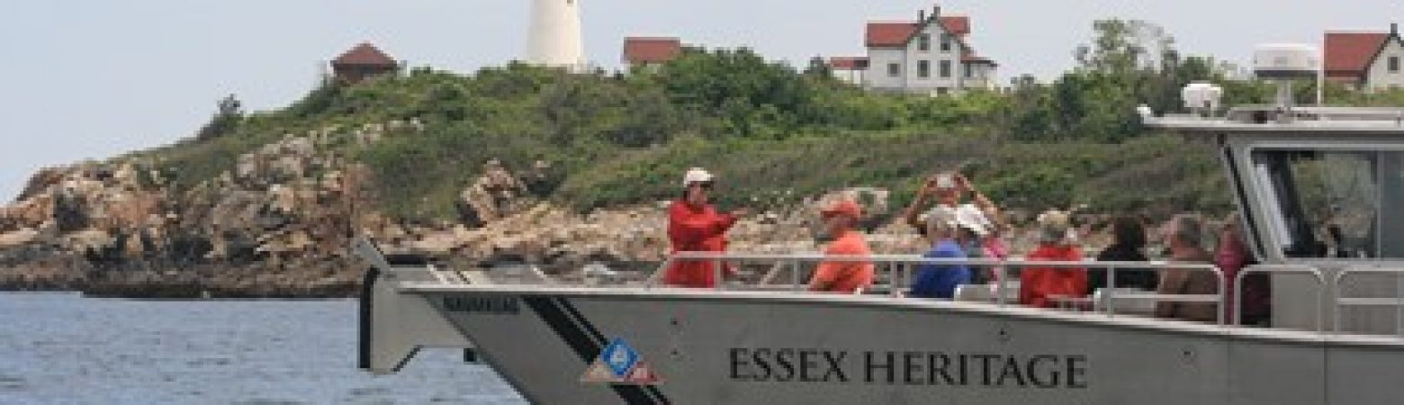 Essex Heritage's landing craft Naumkeag in Salem Harbor