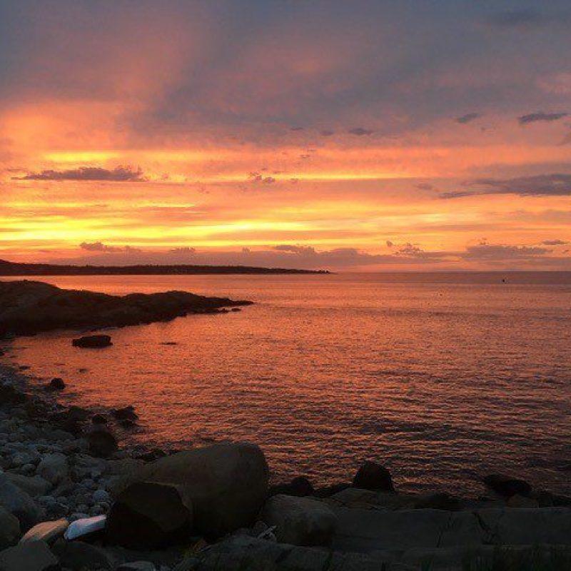 Sunset in Salem Harbor in Salem, Massachusetts