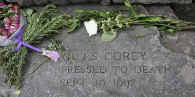 Salem, MA Giles Corey Salem Witch Trials Memorial
